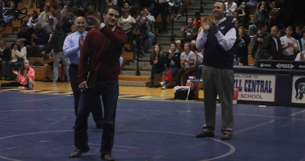 Kyle+Bradley+is+being+honored+by+wrestlers+and+fans+during+his+induction+into+the+FHC+Hall+of+Fame.+