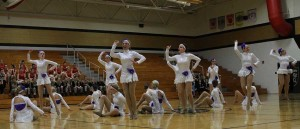 The Sensations danced with teams from Francis Howell and Francis Howell North at the Francis Howell North Showcase in preparation for Nationals. The team placed 13th with their hip-hop routine and did not place with their jazz routine.