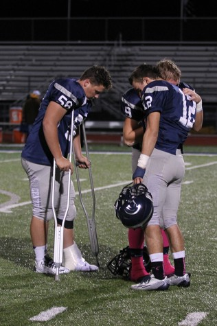 Seniors reflect  after a loss to Howell earlier in their 2-8 season.