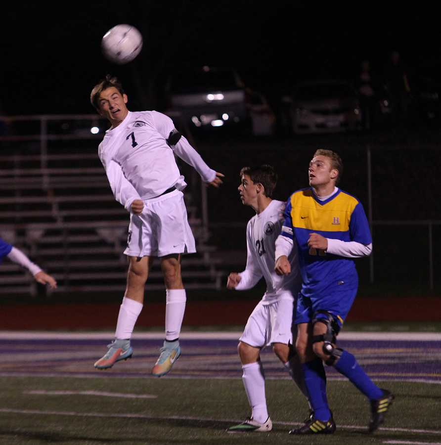 Soccer team clinches district title