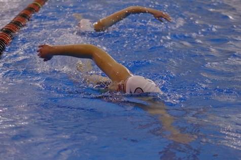 Spartan Girl's swim and dive win dual meet vs. Pioneers 107-73