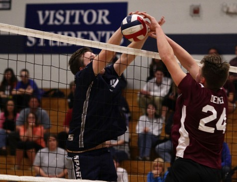 Boys Volleyball Fall against Spartans