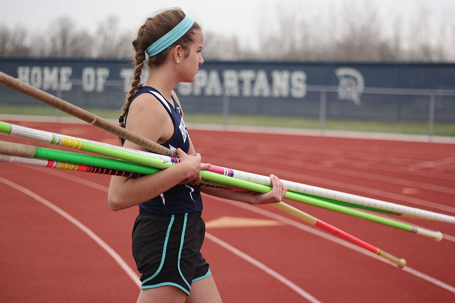 Track and field takes on Troy, Zumwalt West