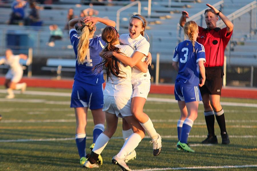 Abbie+Rademacher+screams+in+joy+after+scoring+the+winning+goal+in+extra+time+to+give+the+Lady+Spartans+a+district+title+with+a+1-0+victory+over+Francis+Howell.