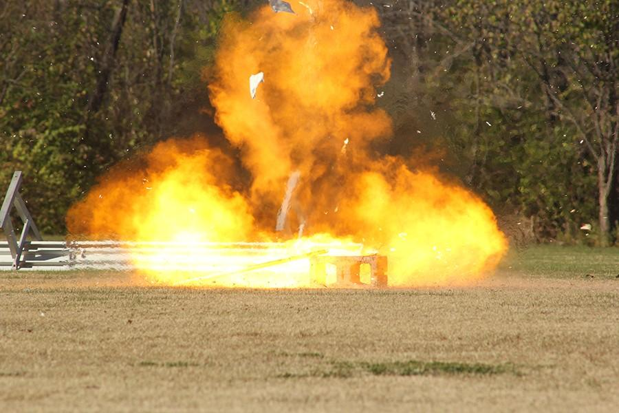 The explosions heard around the school