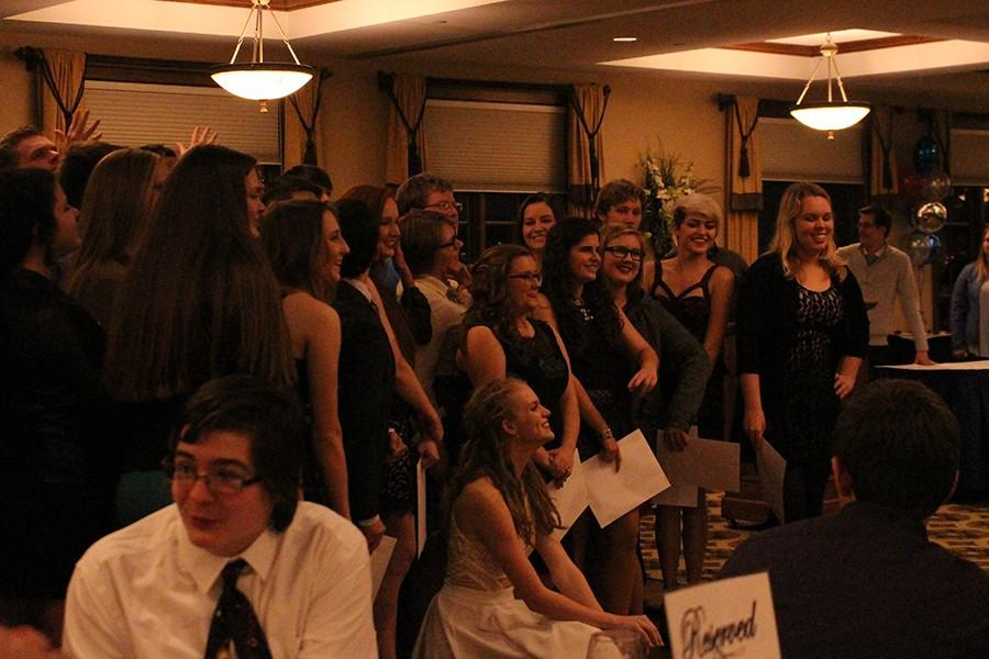 Band students relax at their banquet earlier this month.