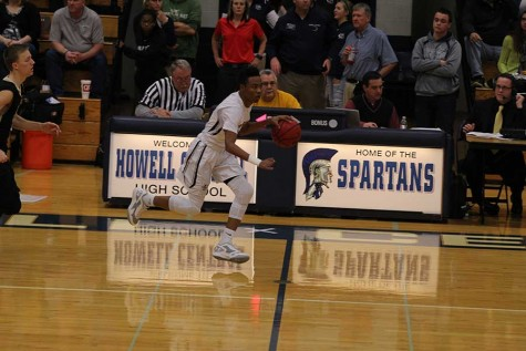 James going on his way to a layup against Francis Howell North on Feb. 2.