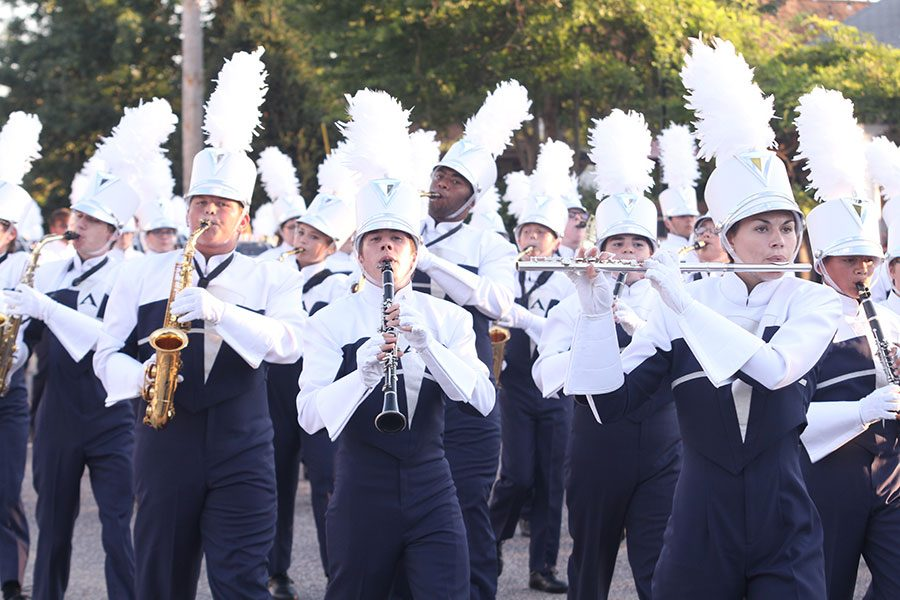 The+Spartan+Regiment+performances+at+the+Homecoming+Parade.+The+band%27s+season+ended+with+a+competition+at+Francis+Howell+at+the+end+of+October.