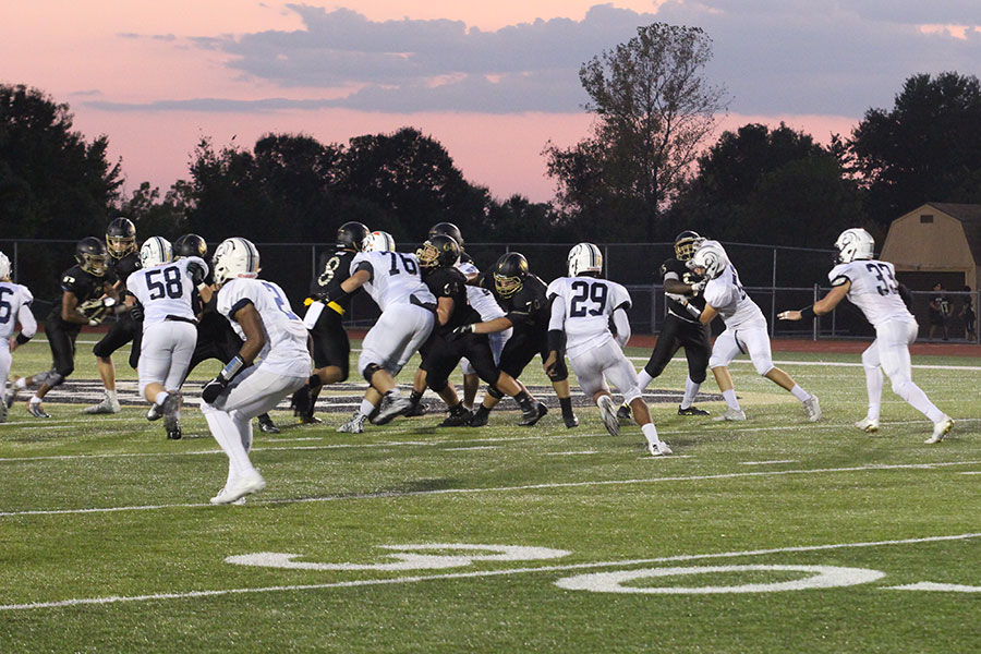 The spartan defense reads the play to stop the explosive Howell North offense. Howell North is currently maintaining a record of 2-4.