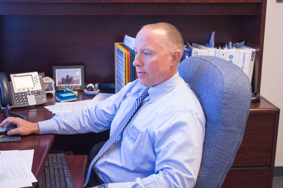 Dr. Arnel continues through the workday, going through the numerous tasks required of him daily. He has been the principal of FHC for 11 years and counting.