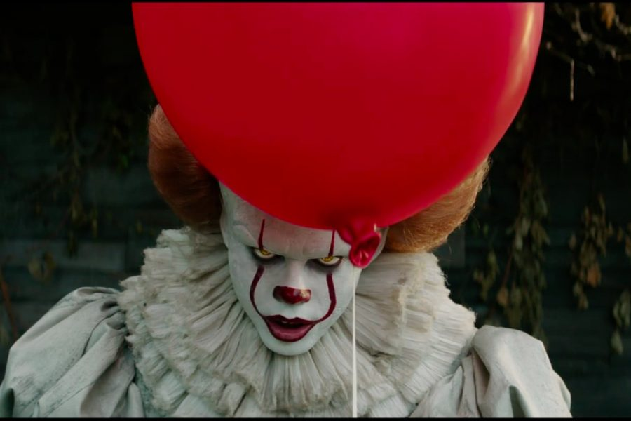 Pennywise the demonic shapeshifter appears from behind his primary foreshadower: a bright red balloon. Pennywise, played by Bill Skarsgård, is now a renowned contemporary horror antagonist for his incredibly unsettling characteristics.