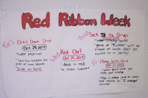 Diversity club hosts Red Ribbon Week in order to raise awareness amongst students. Red Ribbon Week aims to eliminate, or decrease drug usage amongst the community.