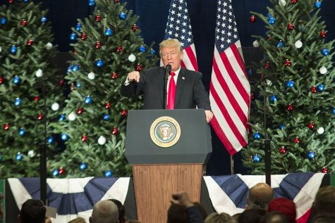 President Trump delivers a speech at the St. Charles Convention Center. This speech discussed tax cuts for small businesses.