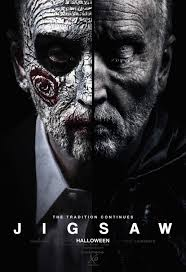 John (Saw)'s face takes up the movie poster. This movie was released on Halloween this year