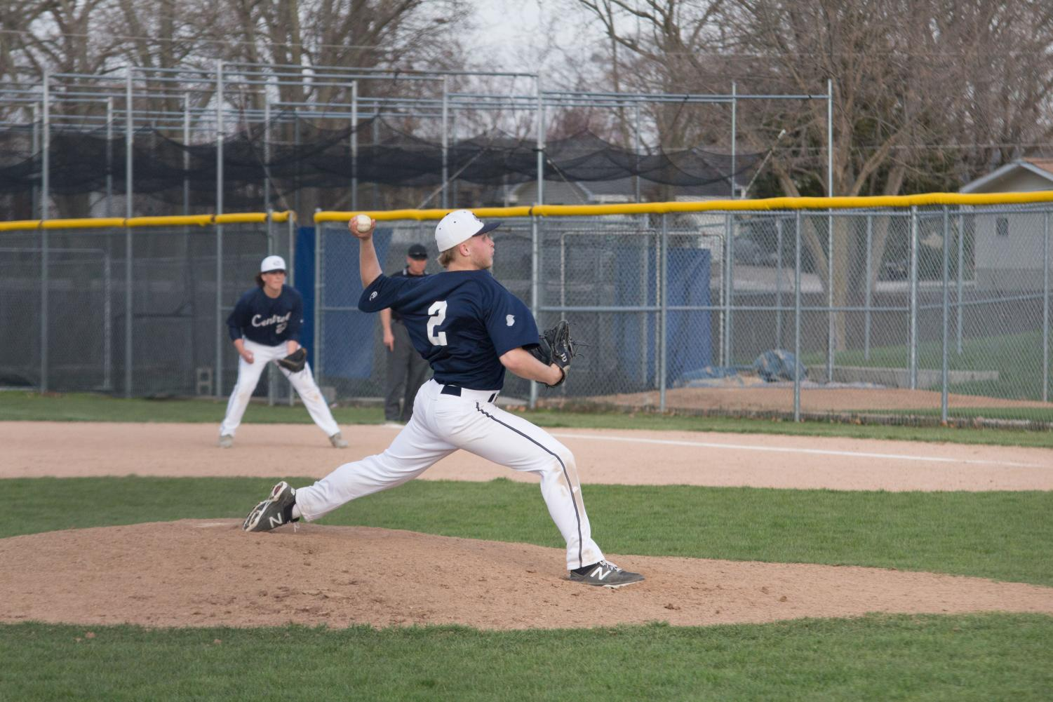 Tim Ewald throws a pitch during a game against Fort Zumwalt West. In the recent game against Lafayette on April 24th.