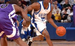 The US Air Force team plays Texas Christian University. These NCAA teams faced off in the March Madness Tournament.