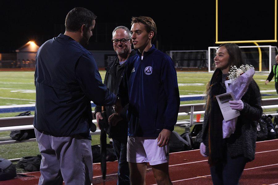 Varsity soccer battles hard for senior night