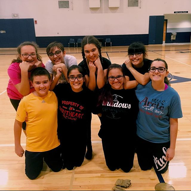 2018-19 Winter Guard is pictured at their first practice in December on the guards Instagram. They love working and being together.