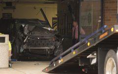 BREAKING: SUV destroys main entrance