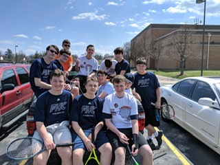 The boys tennis team pose for a picture after their game against FHH this week. Photo courtesy of @HowellCentral Tennis on twitter.