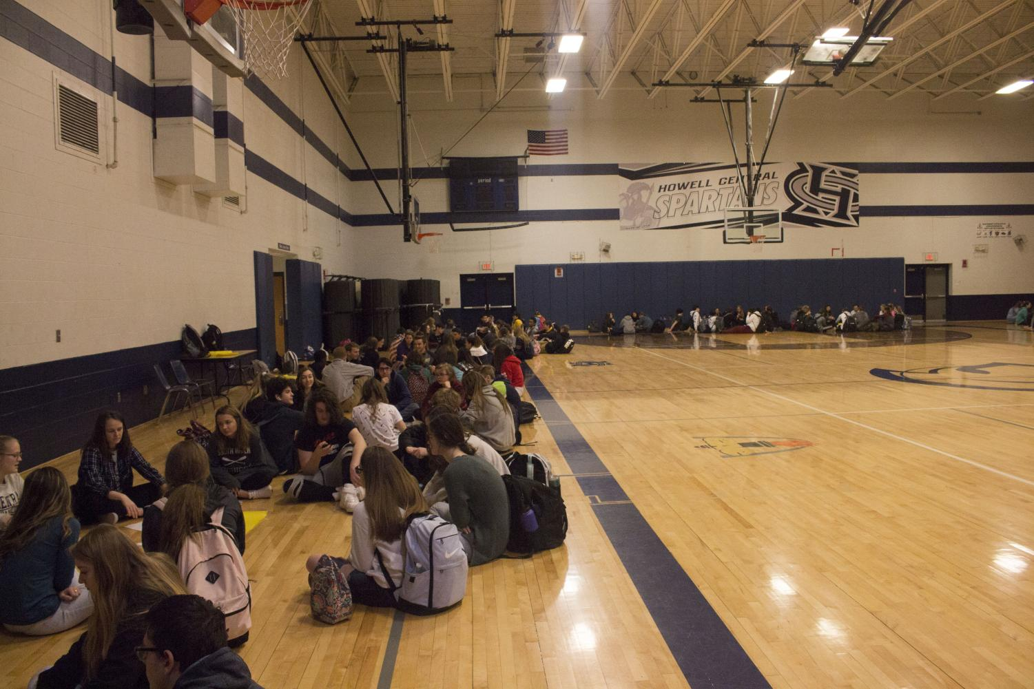 CIRCLE UP: The freshman circles took place in the small gym on Feb. 20 during seminar. The prompt for this meeting was passion, which the freshmen took turns answering.