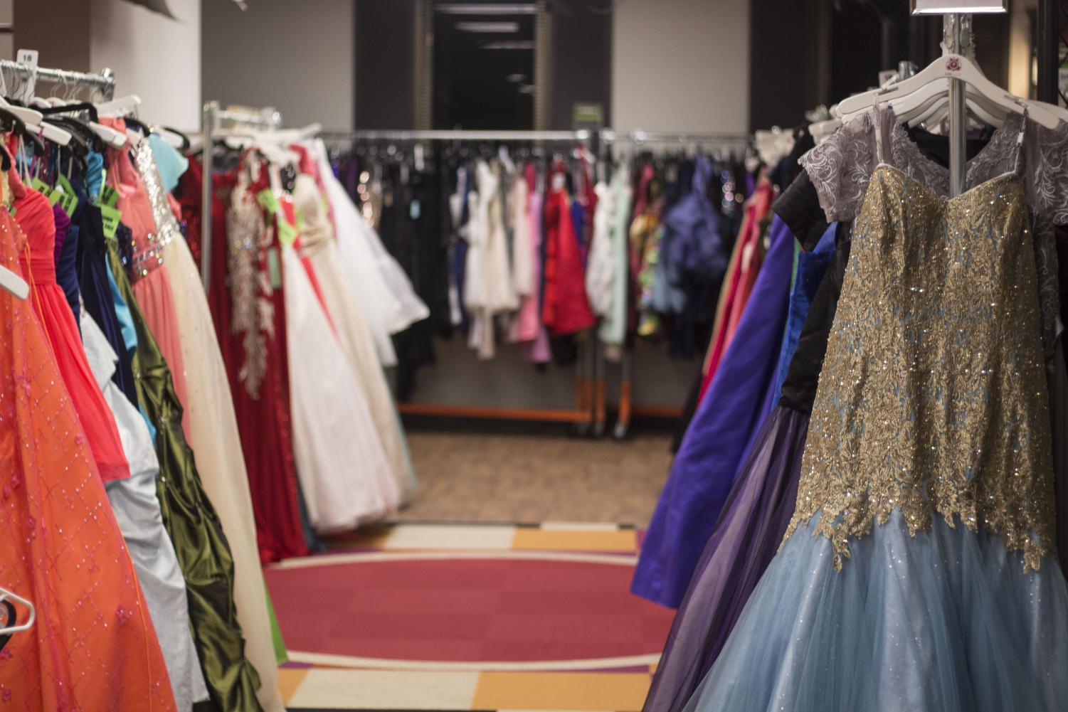 PRINCESS PREPARATION: The ReFresh office, the headquarters for the Cinderella Project, holds thousands of dresses for each gril to choose from. VIPS (Very Important Princesses) get to look through as many dresses as it takes for them to find the perfect one.