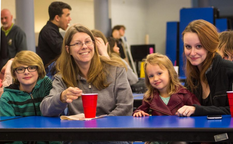 Families and Friends at Ice Cream Social