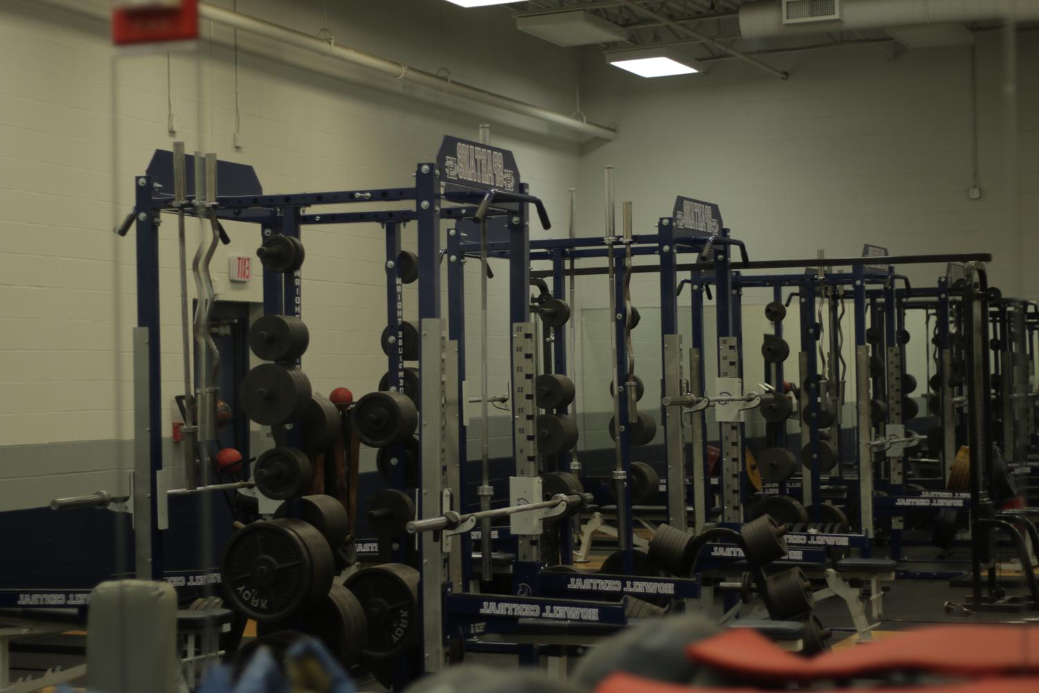 A view on the weight room, and the old equipment that will fill the auxiliary weight room
