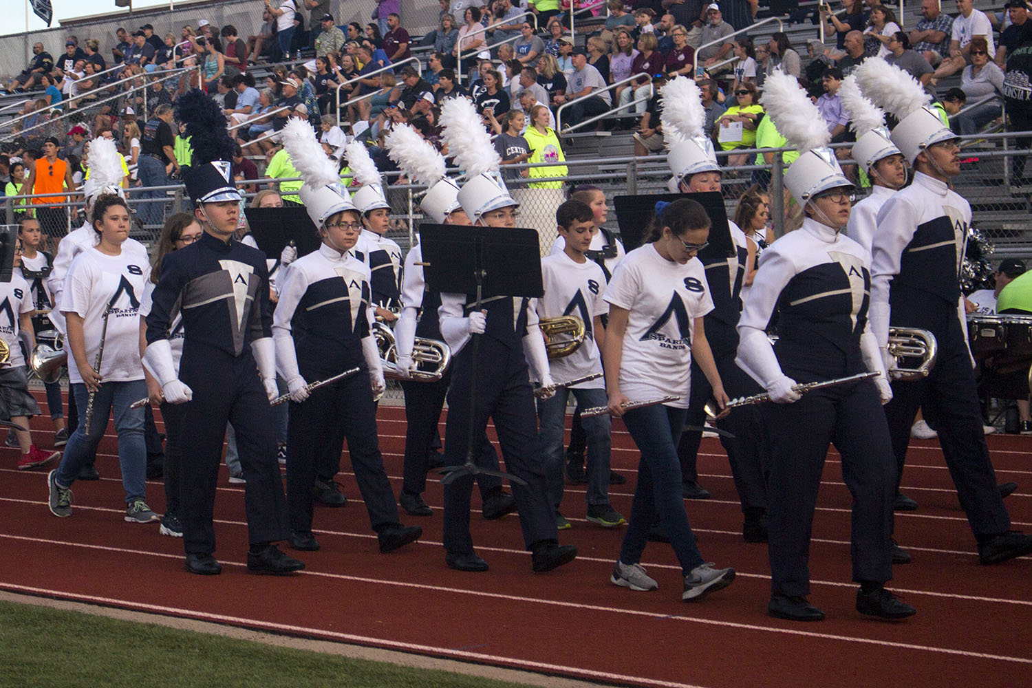 Eighth grade band joins Spartan Regiment for Light the Field football game on Friday, Sept. 13.