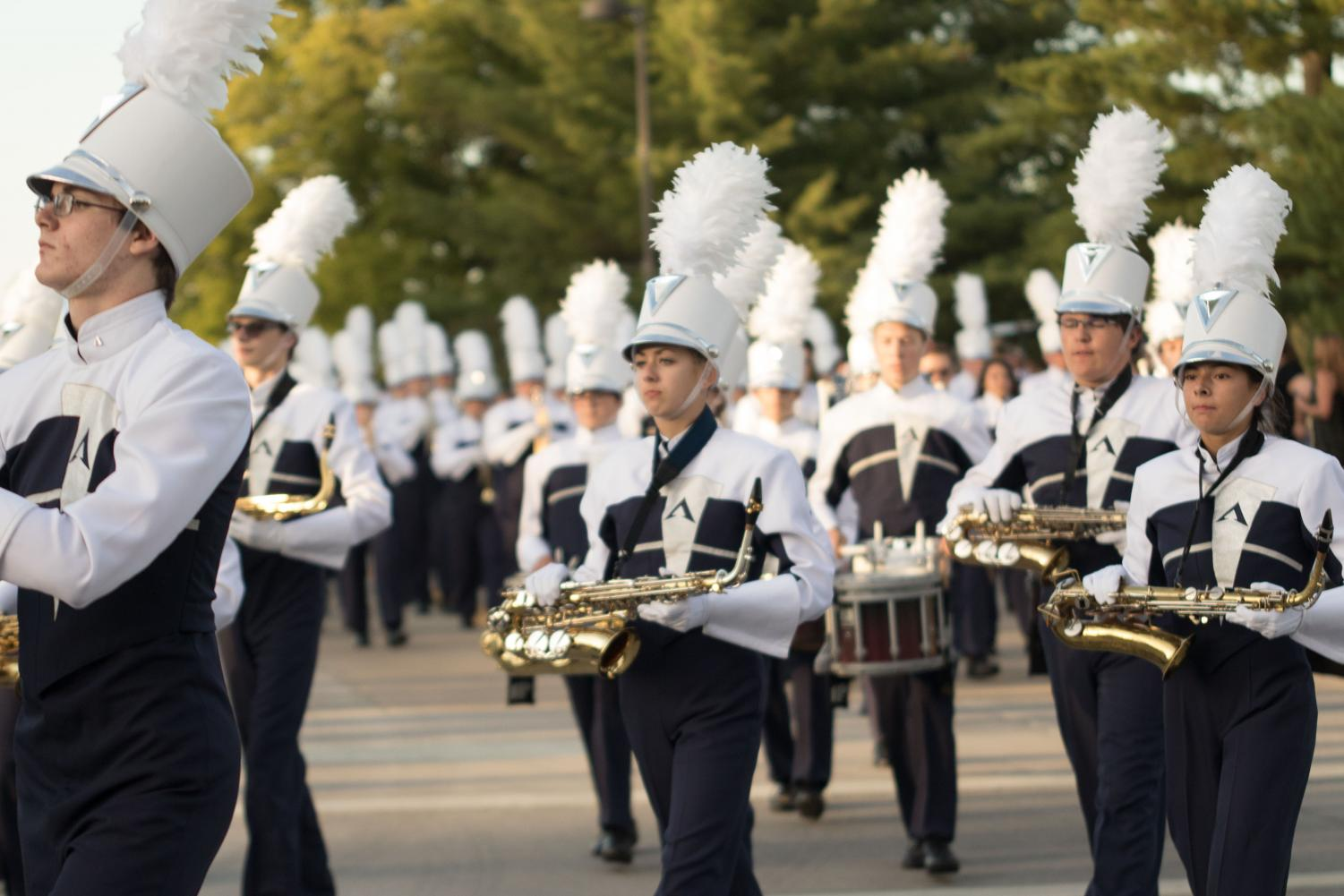 FHC Spartan Regiment marches in the annual homecoming parade.