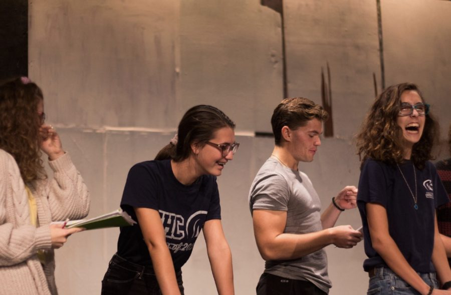 On+September+20+2019%2C+Racheal+Vrazel%2C+Kayleigh+Wright%2C+Sam+Cole+and+Sammi+were+laughing+because+they+were+trying+to+speak+with+a+British+accent+in+the+auditorium.+