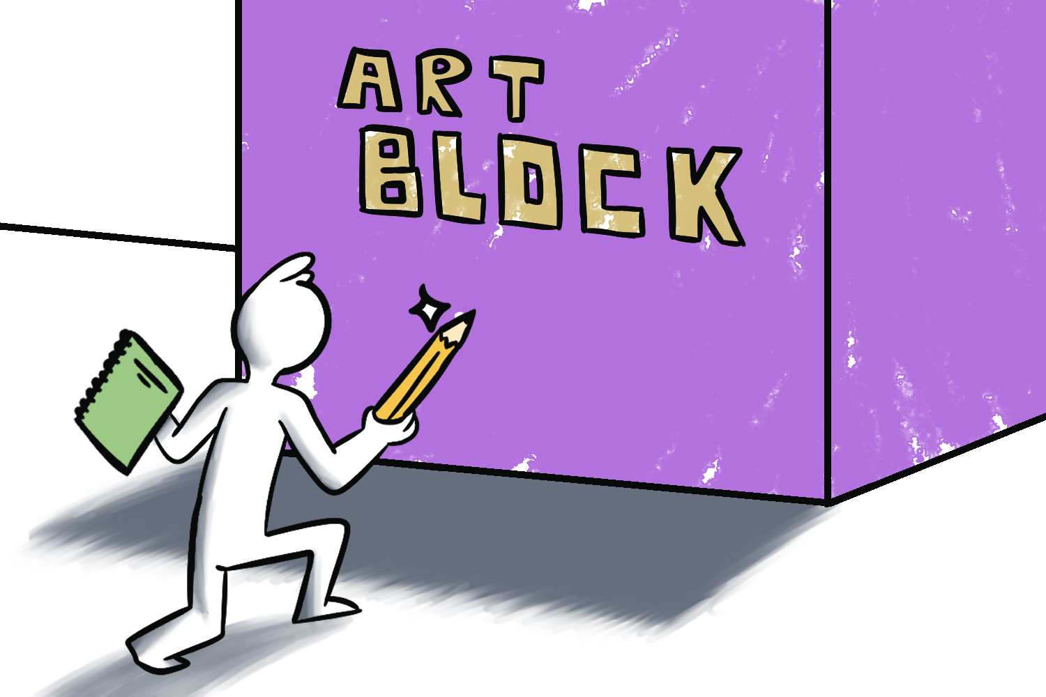 Sharpen the pencil and sharpen the mind. Escaping art block can seem like an intense battle.