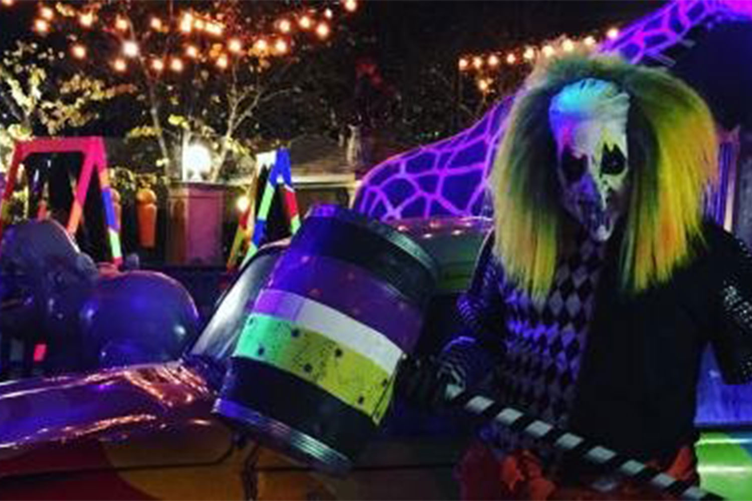 A main character of Fright Fest poses, ready to terrify audiences. Their performance is in part what makes Fright Fest such a thrill.