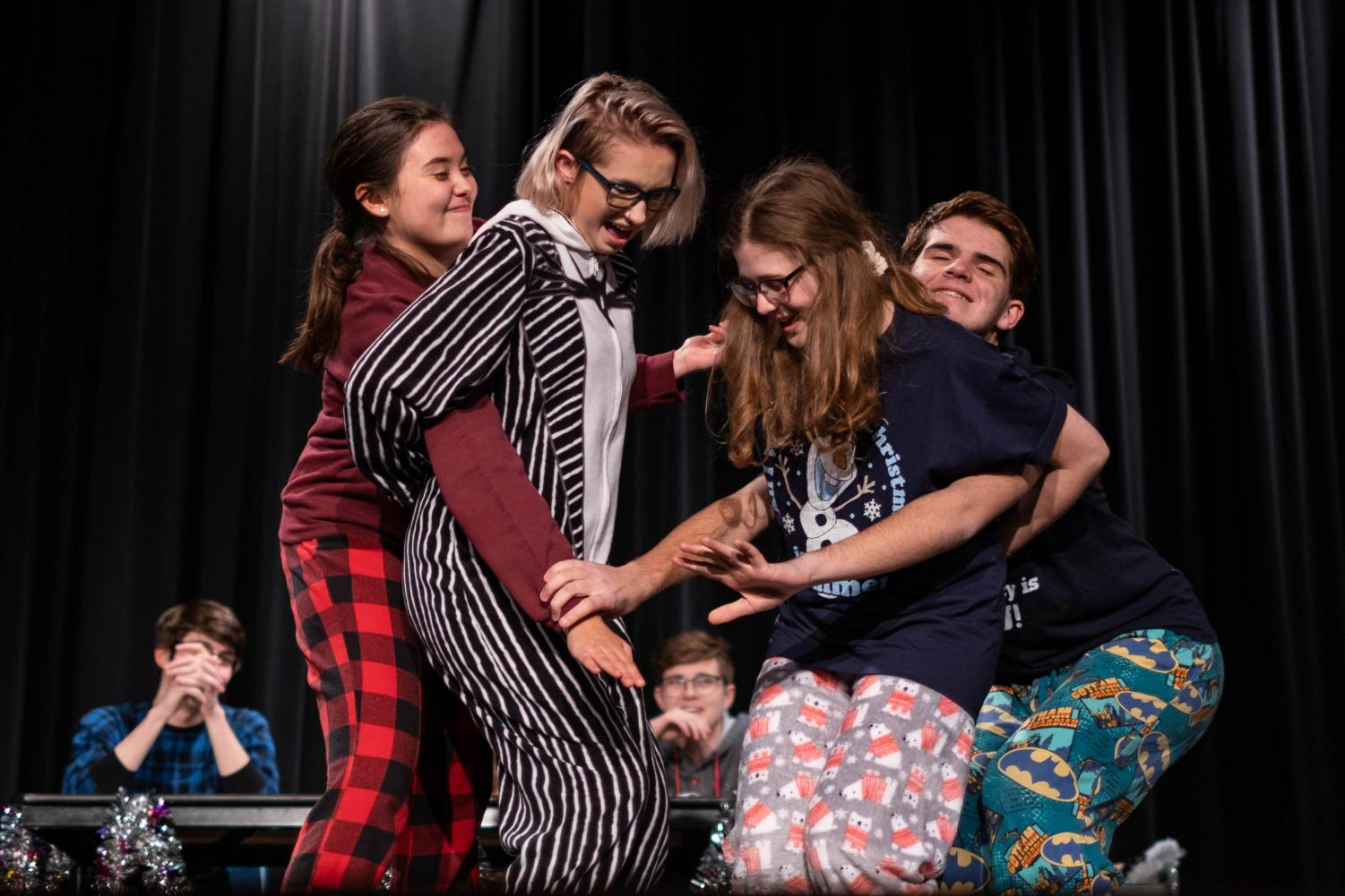 Each game in improv allows for the actors and actresses to better their reaction time and on-the-spot thinking. Many games end up shouts and laughter as the actors on stage  cannot hold back their laughter. Not only is improv entertaining for the audience, but for the fellow actors and actresses as well.