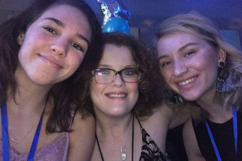 Jessica Nuckolls and her buddy with Emma Clasen. On the night of Febuary 8th, 2019, at a Night to Shine.