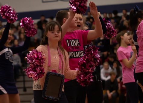 At the winter pep assembly, both general education and special needs students perform a dance together. The dance showcased the level of inclusion that All of Us Cub strives to promote to all students.