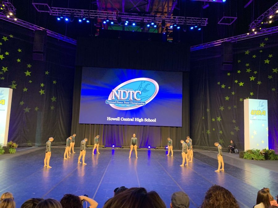 FHC Sensations perform their Jazz routine at Nationals. The girls were hungry and determined to move forward into the competition