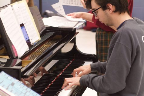 UNDERSTUDY: While Ms. Baird has a substitute for the hour, Elliot Jenner plays piano and sings in the free time.