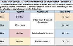 Update: FHSD releases schedule for e-learning