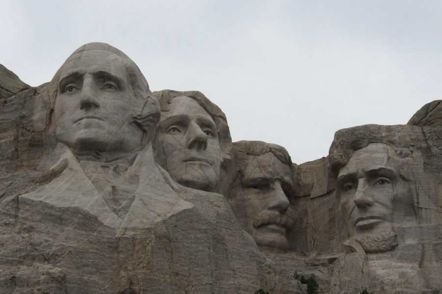 The Founding Fathers on Mount Rushmore.