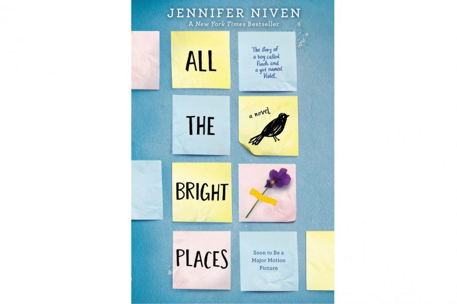 %22All+The+Bright+Places%22-+a+novel+by+Jennifer+Niven.+This+love+story+portrays+a+realistic+journey+of+two+teenagers+struggling+under+the+weight+of+their+pasts.+