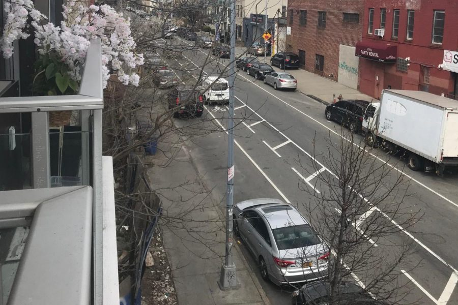 A+photo+of+New+York+City+taken+from+Lindsay+Schallon%27s+balcony.+Amid+the+Coronavirus+outbreak%2C+New+York+streets+have+become+quiet.