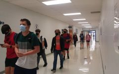 Students walk the halls with masks on as everyone adjusts to the new reality at Central.
