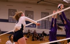 Emma Hultz taking advantage of a good set with a strong hit to FZW.