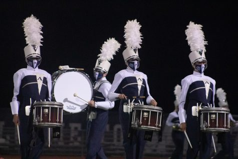 The drum line at Howell preview, One of the only band events this year.