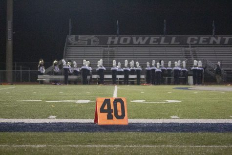 The Francis Howell Central Spartan Regiment performs at the Howell Preview, one of their few performance opportunities this season. The preview also saw some performances from the other Francis Howell high school marching bands as they performed their shows for each other.