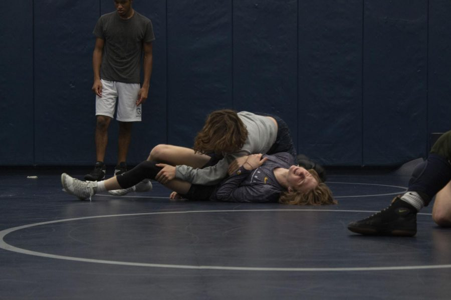 The boys take on practice early in the season to prepare themselves for upcoming duals.