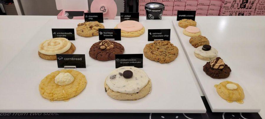 Crumbl Cookies has a rotating menu with 4 new cookies each week.