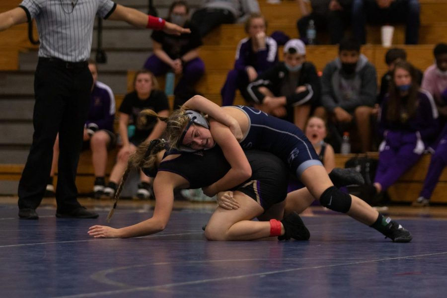Mary Kate Neal wrestling her winning match.