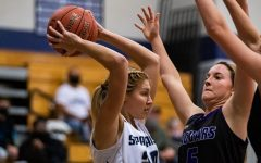 Sofia Tweedie looking for a her teammates.